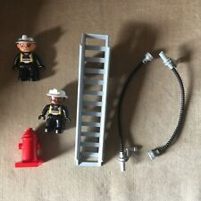 Lego Duplo Replacement Fire Truck Ladder, Hydrant, 2 Firefighters, and 2 Hoses
