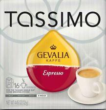 Lot 16ct Tassimo Gevalia Espresso Arabica Coffee Kaffe Brew Gift Loose Free Ship