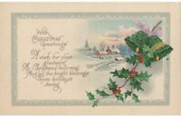 Vintage Unposted Christmas Postcard Winter Scene