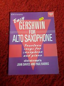 Easy Gershwin for Alto Sax Saxophone Music Book Paul Harris