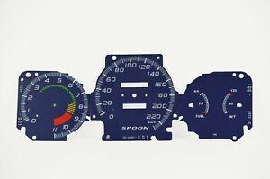 Gauge Faces Overlay kit Spoon style for Honda Civic Ek VTI / SI