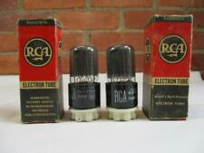 RCA 12SN7GT Vacuum Tubes Closely Matched Pair TV-7 Tested NOS NIB