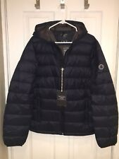 2017 Abercrombie & Fitch LIGHTWEIGHT DOWN PACKABLE HOODED PUFFER JACKET NAVY M