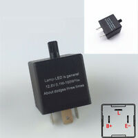 Adjustable  3-Pin Electronic LED Flasher Relay  For Car Auto Turn Signal Light