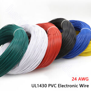 UL1430 PVC Electronic Wire 24AWG Tinned Copper Electrical Equipment Cable 105℃