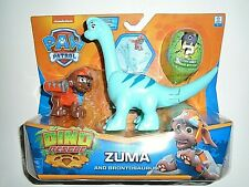 "Nickelodeon Paw Patrol Zuma and Brontosaurus - Dino Rescue ""NEW"""