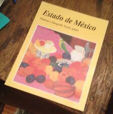 ESTADO DE MEXICO Historia y Geografia TERCER GRADO 2002 SPANISH Free US Shipping