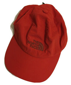 The North Face Hat Baseball Cap Adjustable - Orange Lightweight S/M