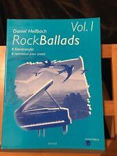 Daniel Hellbach Rock ballads volume 1 recueil partition piano édition Acanthus