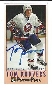 Tom Kurvers Signed 1993/94 Fleer Power Play Card #384 New York Rangers