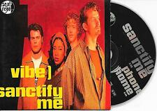 VIBE - Sanctify me CD SINGLE 2TR German CARDSLEEVE 1994 Funk / Soul