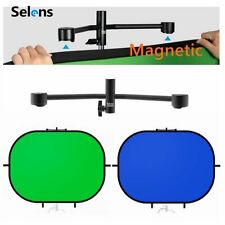 Green Blue Chromakey Backdrop Screen Photography Background & Magnetic Holder
