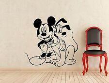 Mickey Mouse Pluto Wall Decal Disney Cartoons Vinyl Sticker Decor Mural (357z)