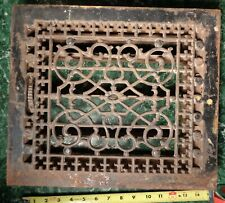 Antique ornate Metal FURNACE HEATING GRATE VENT TUTTLE & BAILEY 1885 1886 patent