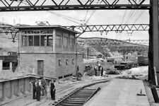 PHOTO  YORKSHIRE  DUNFORD BRIDGE NEW RAILWAY STATION AND SIGNALBOX UNDER CONSTRU