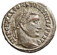 """Constantine I The Great Silvered Follis """"Jupiter"""" Alexandria RIC 9 About EF"""