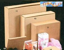 CONFEZIONI BOMBONIERE -  5 pezzi scatola cartone ondulato - 300x300x70 mm avana