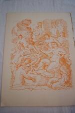 ANDRE DERAIN DESSIN EN COULEUR BAIGNADE  GRAVURE 1940 REVUE VERVE 07