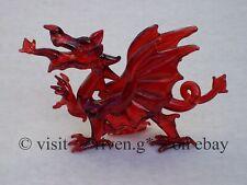 WELSH RED DRAGON FIGURINE@WALES Glass Gift@ICONIC FLAG@Baner Cymru@Y DDRAIG GOCH