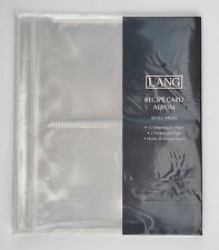 Lang Recipe Card Clear Plastic Refill Sheets for 3~Ring Binder  *FREE SHIPP