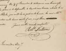 American Inventor Robert Fulton Autographed Signed Letter 1799