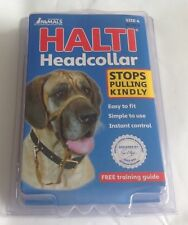 HALTI HEADCOLLAR stops pulling kindly SIZE 4. BLACK