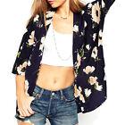 Women's Loose Blouse Summer Boho Chiffon Coat Shawl Kimono Cardigan Top Cover Up