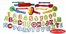 New Dough Tools Set Of 45 Playdoh Cutters Alphabet Numbers Modelling Kids Toys