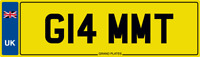 GLAM MT NUMBER PLATE G14 MMT CAR REGISTRATION GLAM T NO ADDED FEES MT INITIALS