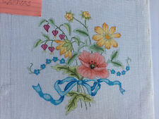 Floral Needlepoint Painted 18 Count Mono Canvas. Design Is 10� x 10�