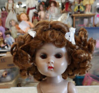 WIG FOR GINNY DOLL  CENTER-PART WITH CURLS AND BOWS HONEY BLONDE