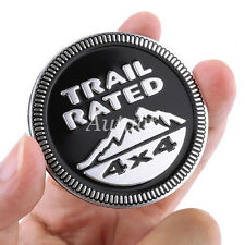 CAR BLACK METAL TRAIL RATED 4X4 EMBLEM BADGE DECAL TRUNK STICKER FOR JEEP
