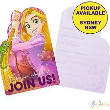 Disney Princess Birthday Party Invitations Invites Supplies X 8