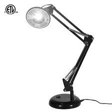 MY CANARY 5W LED Energy Saving Adjustable Architect Swing Arm Desk Lamp, Black
