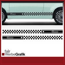 Aufkleber /  Sticker / Dekor / Seitenstreifen / Fiat 500 Karos / #066