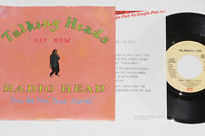 """Talking Heads-Radio Head/Hey Now - 7"""" 45 con product Facts PROMO-Flyer"""