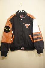 Vtg Jeff Hamilton Texas Longhorns Ncaa Leather Varisty Bomber Jacket Mens Large