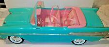 Vintage Barbie 1957 Chevy Bel Air Convertible Car Mattel Turquoise & Pink 1988