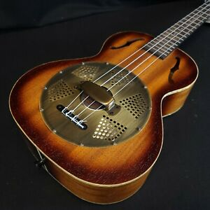 Kala KA-RES-BRS Resonator Series Tenor Ukulele with Brass Cover