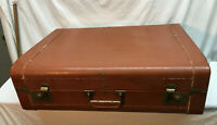 Vintage - Terminal Train Car Luggage Leather 25.5in- 1930s 1940s - V G York Pa