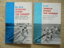 2  x 1970 BRiSA International 3TT speedway programmes