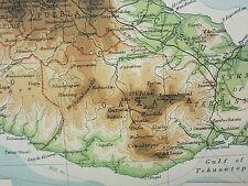 1921 LARGE MAP ~ MEXICO & CENTRAL AMERICA CHIAPAS CHIHUAHUA GUATEMALA HONDURAS