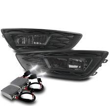 15-17 FORD FOCUS S SE BUMPER DRIVING FOG LIGHT LAMP SMOKE W/50W 8000K HID+BEZEL