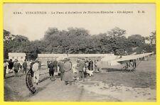 cpa VINCENNES PARC d'AVIATION de MAISON BLANCHE Militaire Départ d'un AVION 1915