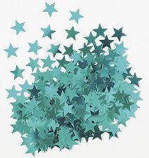 Sterne Konfetti Sternchen Streu Deko Metallic Türkis Basteln Weihnachten 1cm Ø