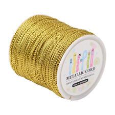 "Jewelry Braided Thread Metallic Cords Goldenrod 1/16""(1mm) Tinsel Non-Stretch"