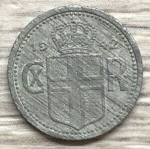 1942 Iceland 10 Aurar WWII Coin (FB1-29)