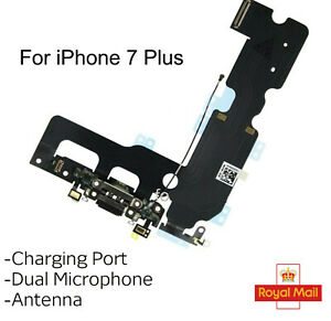 For iPhone 7 Plus Charging Port Headphone Jack Antenna Mic Replacement Black