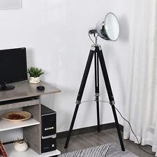 Lámpara de Pie Trípode Altura Ajustable Interruptor de Pedal 65x65x100-140 Negro