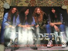 MEGADETH Countdown 1992 Promo Poster Fully Autographed